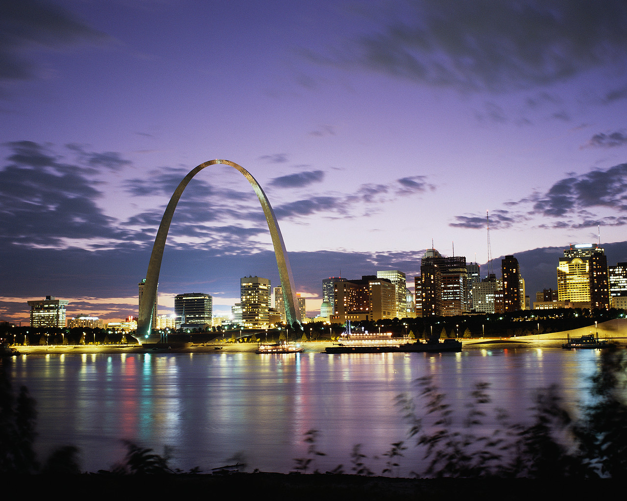 St. Louis at Sunset